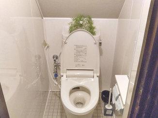 トイレリフォーム お客様に明るく快適に使用して頂けるように一新したトイレ
